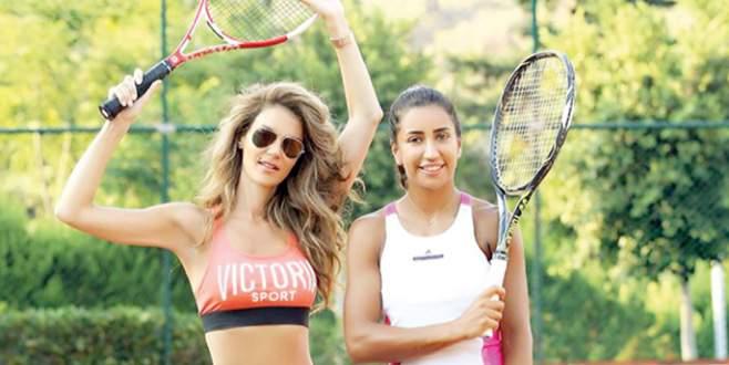 Tenise merak sardı