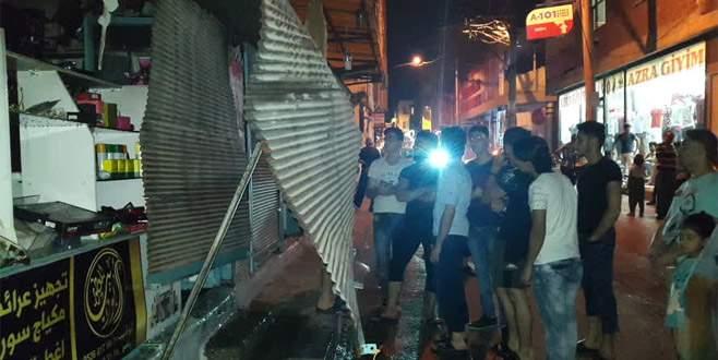 Bursa'da parfüm dükkanında patlama