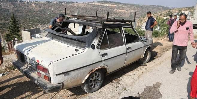 Yahudi yerleşimciler Filistinlilerin araçlarını yaktı