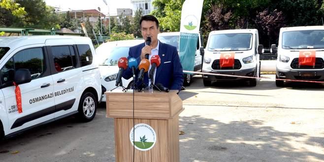 Osmangazi'ye 13 yeni araç