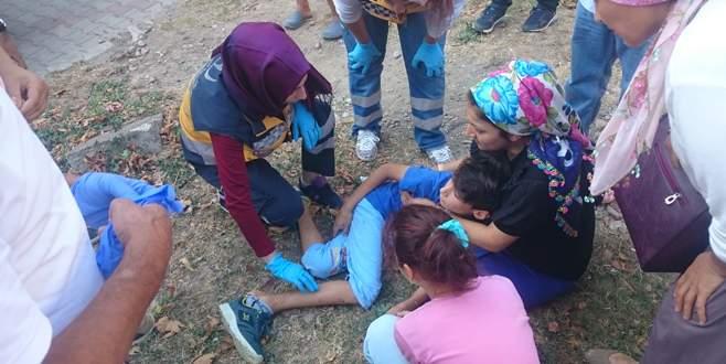 Bursa'da 13 metrelik burca çıkan çocuk yere çakıldı