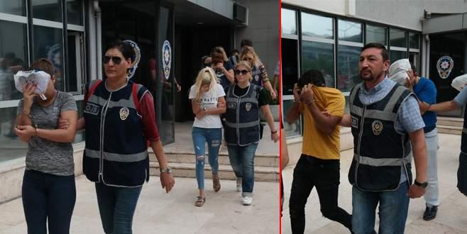 Bursa merkezli 6 ilde fuhuş operasyonu: 10 tutuklama