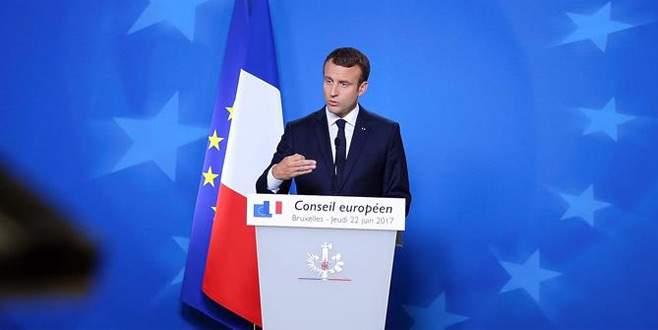 Macron'dan 'gerginliği tırmandırmayın' çağrısı