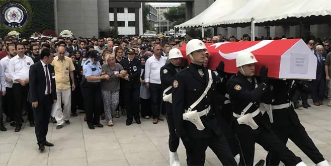 Bursalı şehit polis için veda töreni
