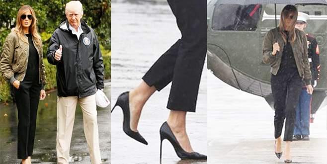 First Lady'nin ayakkabıları sorun oldu