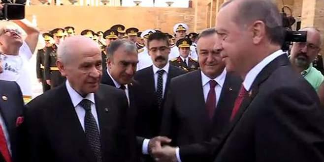 Erdoğan ve Bahçeli'den sıcak sohbet