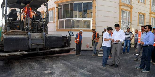 Demirtaş'ta yollar asfaltlanıyor