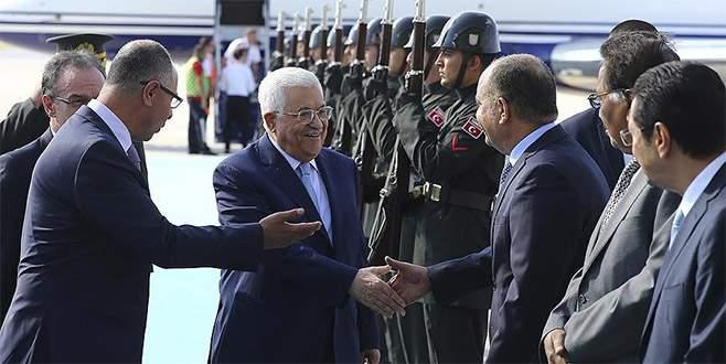 Filistin Devlet Başkanı Abbas Türkiye'de