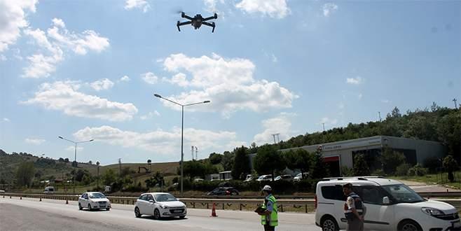 Bayram trafiğinde drone'lar ceza yağdırıyor