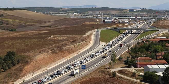 Bursa'daki trafik yoğunluğu helikopterle denetlendi