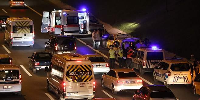 Taksi şöförü lastik değiştirirken hayatını kaybetti