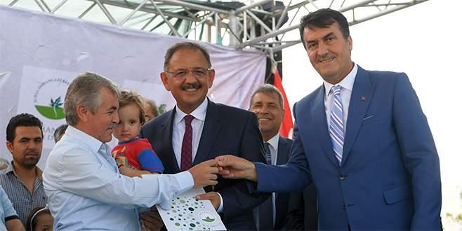 Soğanlı'da ilk anahtarlar Çevre Bakanı Özhaseki'den