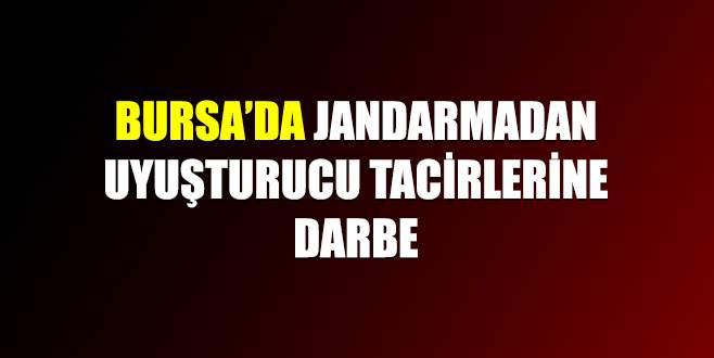 Bursa'da jandarmadan uyuşturucu tacirlerine darbe
