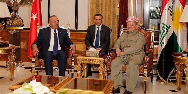 Çavuşoğlu ile Barzani ile bir araya geldi