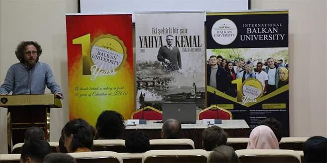 Makedonya'da 'İki şehir bir şair: Yahya Kemal' konferansı