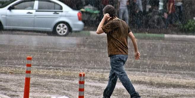 Bursa'ya kuvvetli yağış geliyor