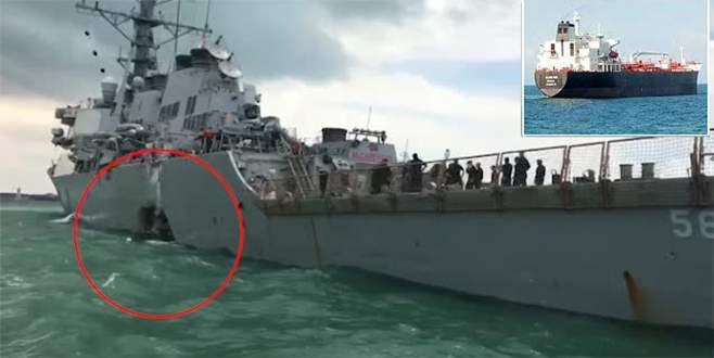 ABD savaş gemisi kaza yaptı