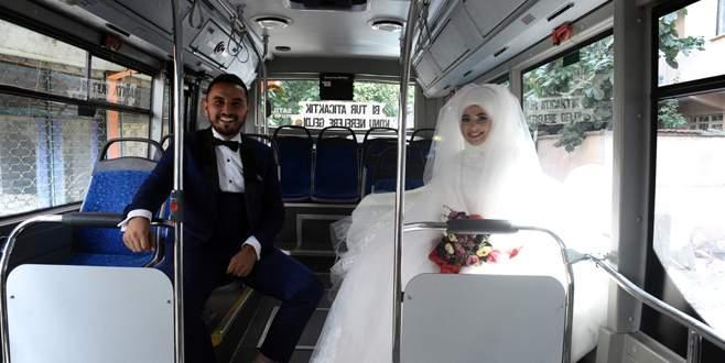 Böyle olur otobüs şoförünün düğünü