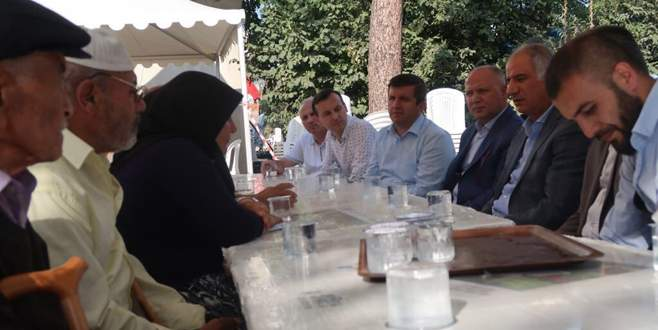 Efkan Ala'dan Bursalı şehit ailelerine ziyaret