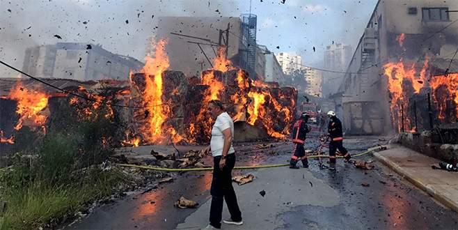 Karton fabrikasında yangın