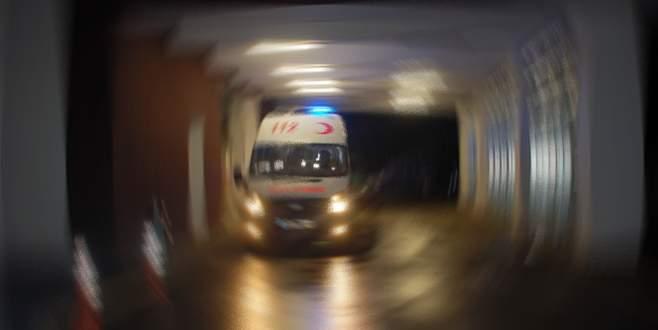 Yolcu minibüsü şarampole yuvarlandı: 1 ölü, 10 yaralı