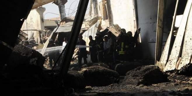 Yanan fabrikanın sahibinin cesedi 70 saat sonra bulundu