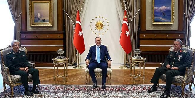 Cumhurbaşkanı Erdoğan, İran Genelkurmay Başkanı'nı kabul etti