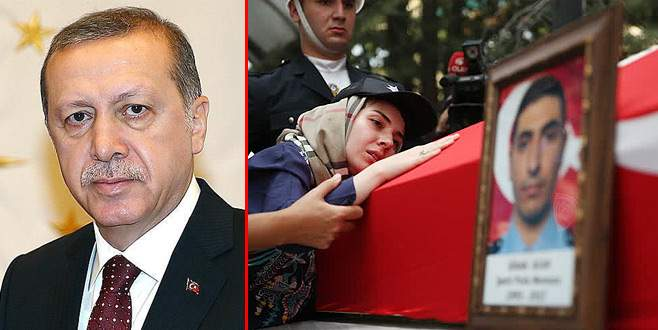 Erdoğan'dan Bursalı şehidin ailesine başsağlığı telgrafı