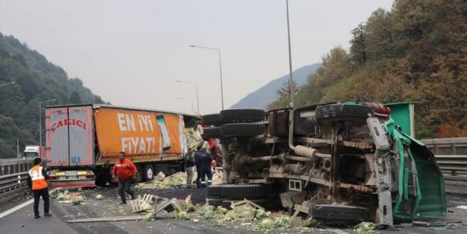 Bolu Dağı Tüneli'nde kaza! İstanbul yönü ulaşıma kapatıldı