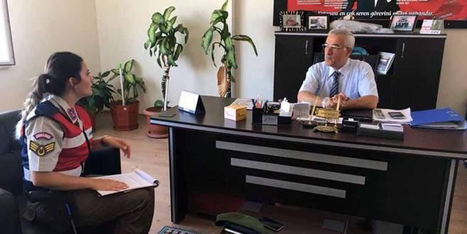 Bursa'da jandarmadan okullara uyuşturucu hakkında bilgi