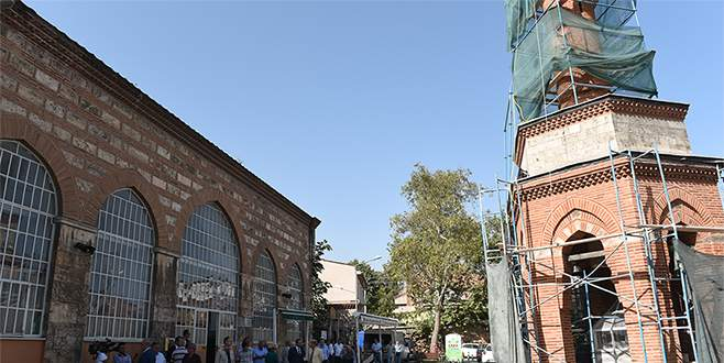 Şadırvanlı minare restore ediliyor