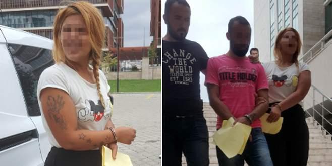 Erkek arkadaşı ile birlikte tutuklandı!