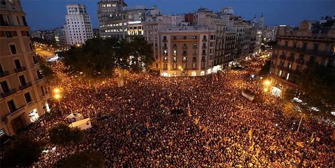 Katalanlar ayaklandı