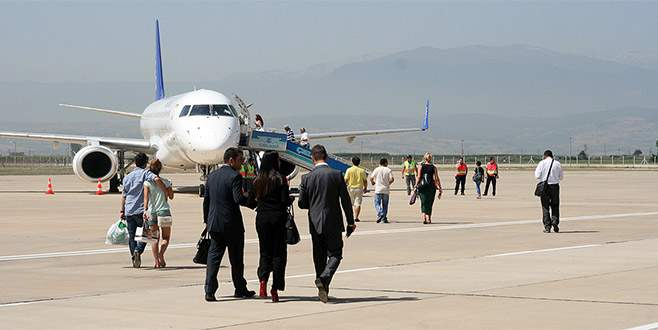 Yenişehir Havalimanı'nda trafik arttı