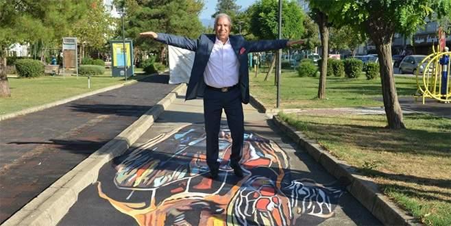 Nilüfer'in parkları üç boyutlu çalışmalarla renkleniyor
