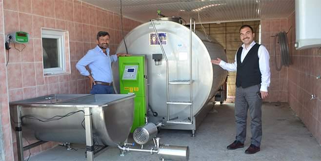 Büyükşehir'den Büyükorhan'a süt soğutma tankı