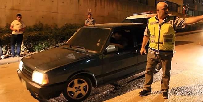 Bursa'da 'driftçi'lere şok baskın