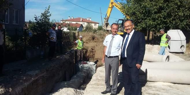 Harmancık'ta altyapı çalışmaları başladı
