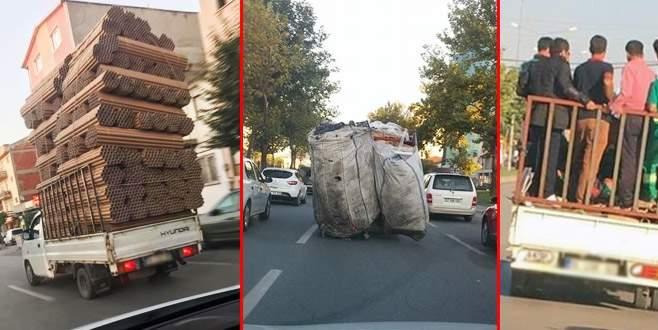 Bursa'da kurallara uymayan araçlar tehlike saçıyor