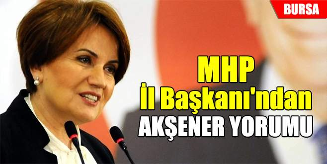 MHP İl Başkanı'ndan Akşener yorumu