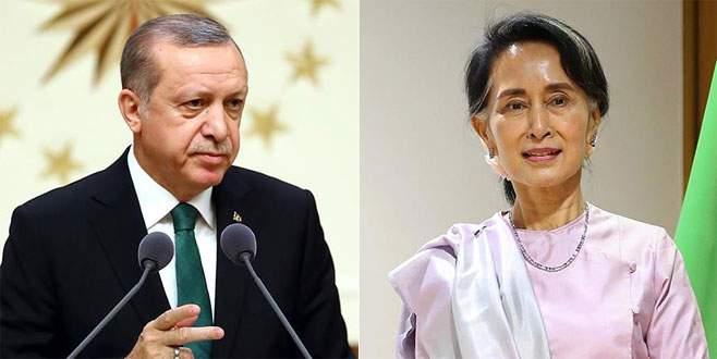 Erdoğan ile Myanmar lideri Suu Çii görüştü