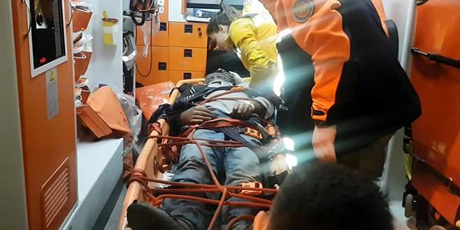 Gece yarısı operasyon, askeri helikopterle kurtarıldı