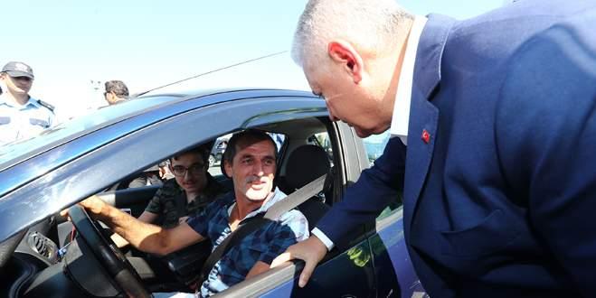 Trafik denetimlerine katıldı: Bu iş başbakanlıktan daha kolaymış