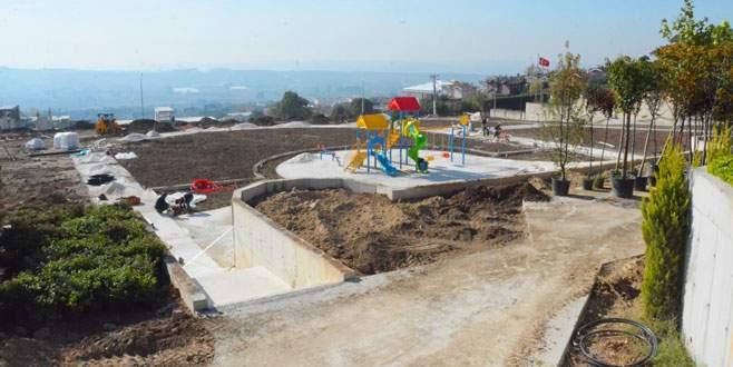 Mudanya'nın en büyük parkı Bademli'ye yapılıyor