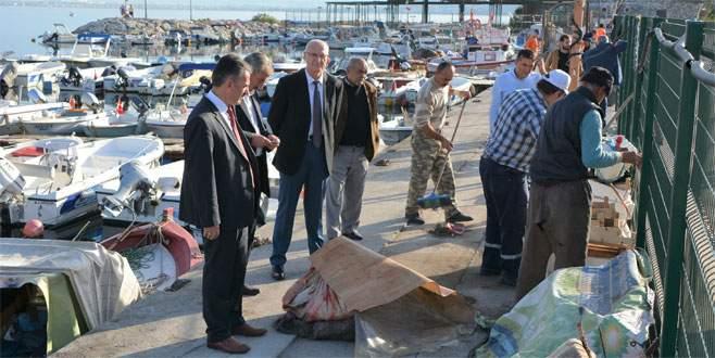 Kurşunlu balıkçı barınağında düzenleme çalışması başlatıldı