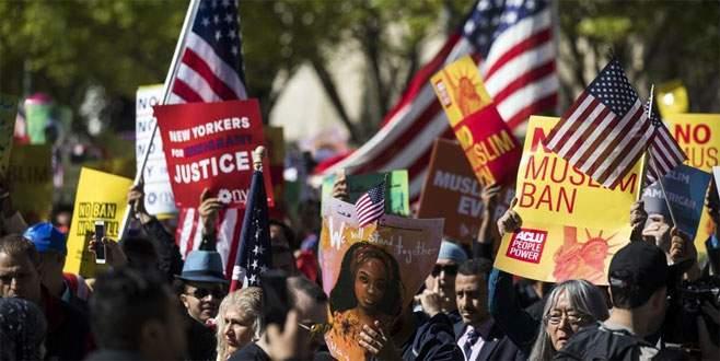 Beyaz Saray önünde 'seyahat yasağı' protestosu