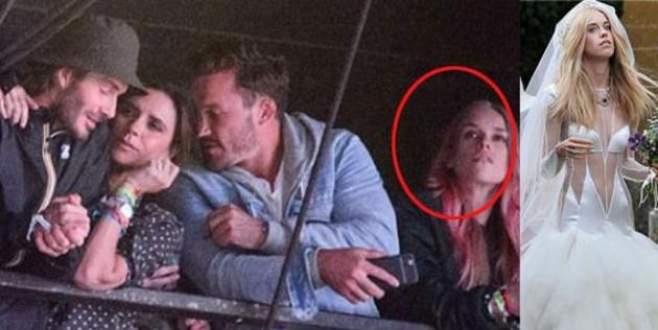 """David Beckham gönlünü """"şeffaf geline"""" kaptırdı!"""