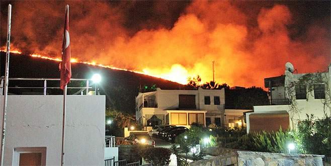 Alevler evlere 50 metre kala söndürüldü