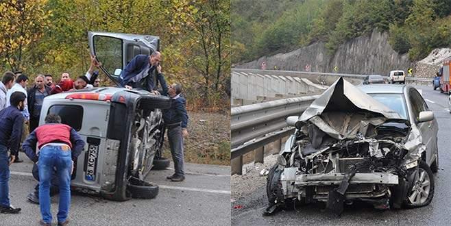Bursa-Ankara karayolunda 2 ayrı kaza