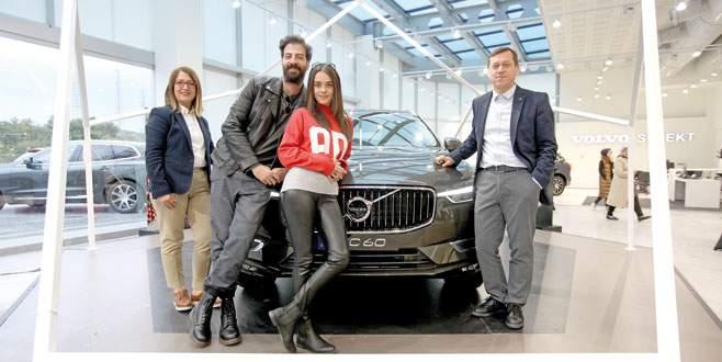 Volvo için nişanlısıyla Bursa'da